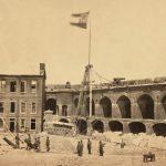 Amerikanischer Bürgerkrieg: Flagge der Konföderierten in Fort Sumter