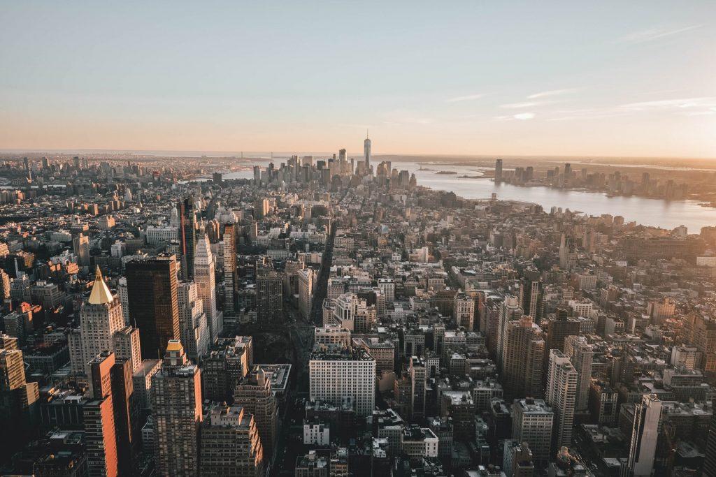 Aussicht vom Empire State Building am Abend