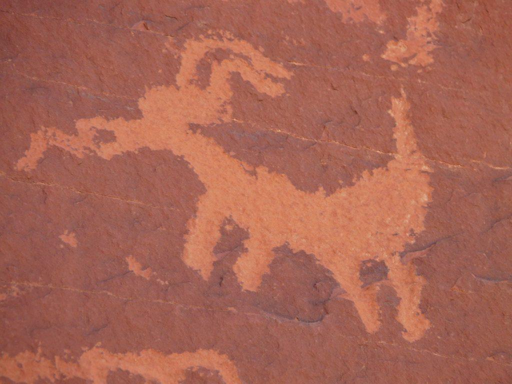 Felsmalerei der Anasazi Indianer