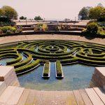 Blick auf den Garten des Getty Centers