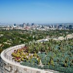 Cacuts Garden mit Blick auf Los Angeles im Getty Center