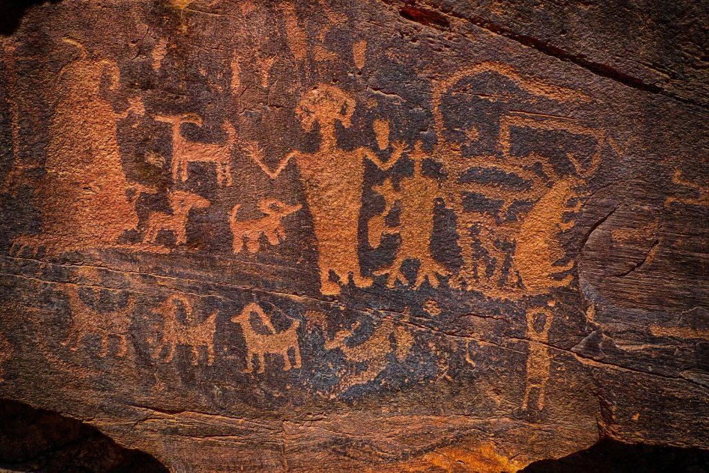 Felsmalereien der Anaszi Indianer