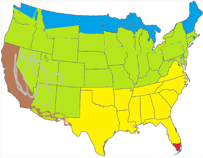 Usa Karte Ohne Staaten.Klima Der Usa Abwechslungsreich Mit Extremen Bedingungen