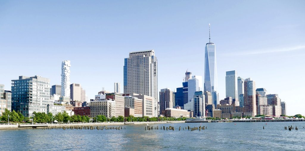 Blick auf Lower Manhattan in New York