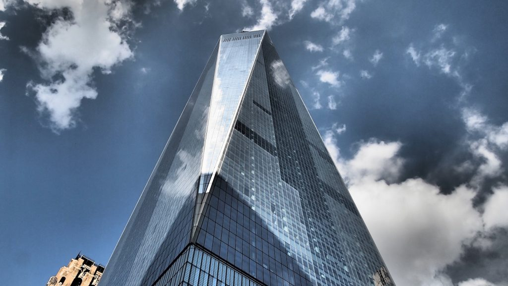 One World Trade Center - Blick von unten