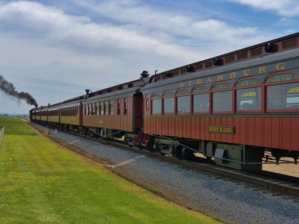 Strasburg Rail Road: ehemalige Eisenbahnstrecke im Amish County
